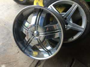 22 inch Chrome Rim Dragon With 3 tires
