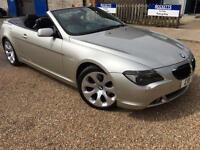 2005 '05' BMW 630i Cabriolet Convertible. Prestige. Petrol. Auto. Px Swap.