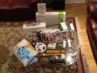 Wii console/Wii fit board and more...