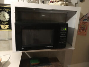 Black microwave.