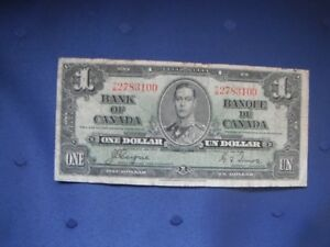 Paper Money - 1937 $1.00 Bill in Circulated Condition