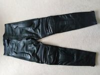 Motorcycle Leather Padded Trousers,New.. 32W/30L