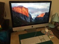 iMac 27-inch late 2009, Intel Core 2 Duo, 4 GB DDR3, 1TB SATA HDD with keyboard and wireless mouse