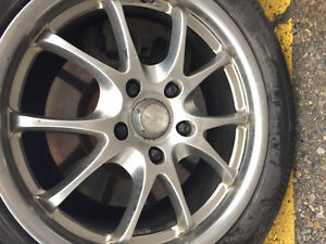 225/55/17r winter tires with alloy rims London Ontario image 6