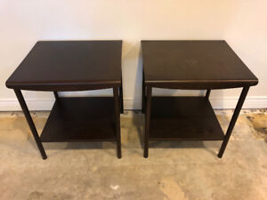 2 End tables/Night stands
