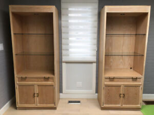 2 SOLID WOOD WALL UNITS IN PERFECT CONDITION