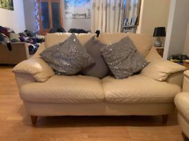 3+2 seater cream sofa