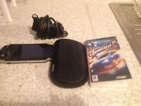 PSP with game and charger