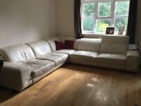 7 seater white sofa