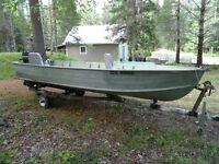 16 Ft. deep V aluminum boat with Mercury 40hp