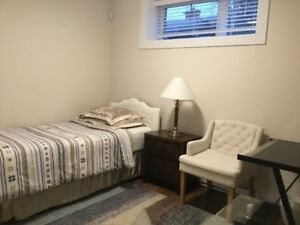 furnished room for rent.  New house.  5 min to MSVU.