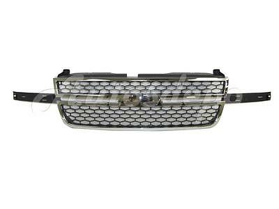 FOR 06-07 Silverado 1500 05-07 Silverado 2500 3500 Grille Chrome W/Molding Hole