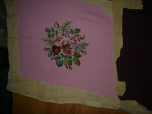 Several Replacement Needlepoint Chair Seat Covers