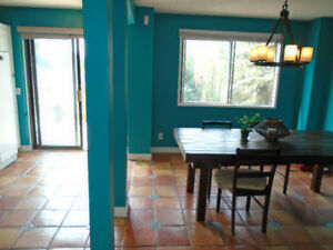 Colourful Private Suite, Walk out to Backyard