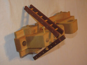 Reduced - Hand-crafted Wooden Hook-and-Ladder Fire Truck model Edmonton Edmonton Area image 3