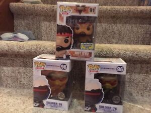 Funko Exclusive Hot Ryu, Overwatch, DBZ Goku pop!