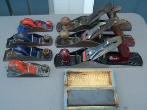 SELECTION OF #5 WOOD PLANES WOODWORKING HAND TOOLS + WET STONE
