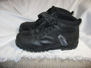 "motorcycle boots  ""Icon""  size 12. $30."