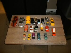 19 TOY CARS AND ONE SCHOOL BUS