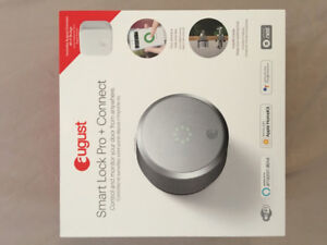 August Wi-Fi Smart Lock Pro + Connect - Silver $300 Firm