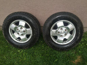 2 cooper discover m&s winter tires 275/65/18