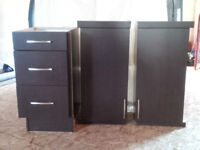 KITCHEN CRAFT Cabinets Set of 3 (base/two upper) in cappucino