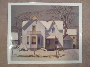 "A.J. Casson Limited Edition ""Village House, Winter"" Cambridge Kitchener Area image 5"