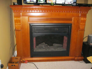 Gorgeous Electric Fireplace with remote