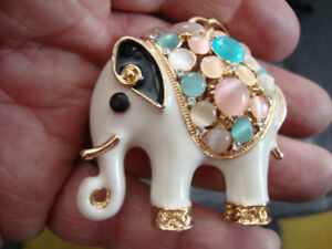 STAINLESS CHAINS  necklaces / bracelets /BETSY JOHNSON ELEPHANT