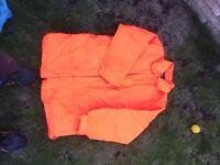 2 x Fluorescent work jackets