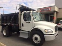 Snow removal!  Single axle dump truck for hire.