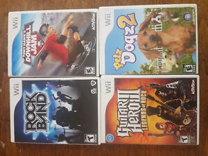 Wii Games, Excellent Condition