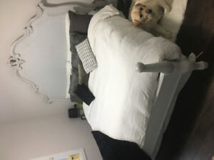 SOLID WOOD KING SIZE ADJUSTABLE BED (can be a queen)