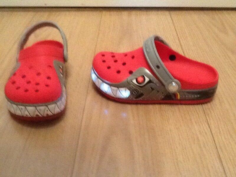 Kids flashing Crocs