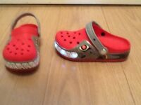 Kids flashing Crocs