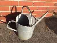 Vintage 2 Gallon Galvanised Metal Can