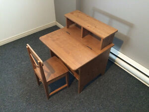 Child's IKEA Diktad wood desk with chair