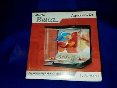 New in Box - Marina Betta Aquarium Starter Kit, Sun Swirl