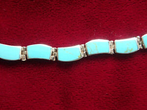 Gorgeous bracelet . Turquoise on 0.925 silver. NEW