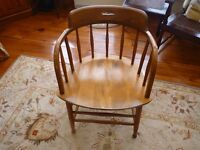 4  mid century captains chairs S. Bent Bros, Gardners, Mass.