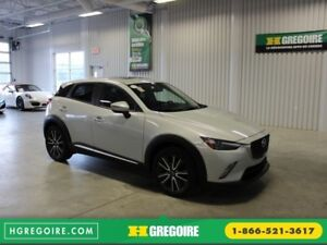 2016 Mazda CX-3 GT Awd Cuir-Toit Ouvrant-Caméra-Mags-Bluetooth