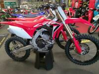 Honda CRF 250 R, 2021, with only 0.1 hrs on, started but not ridden @ Fast Eddy