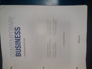 Contemporary Business for Centennial Business students