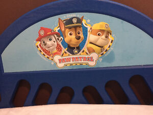 Paw patrol toddler bed with sealy mattress