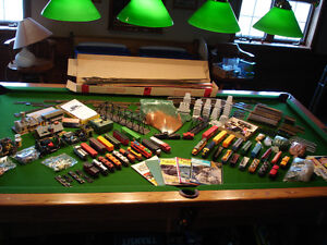 HUGE COLLECTION of HO SCALE TRAINS  and ACCESSORIES