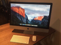 "apple imac 27"" quad core 3.4ghz i7 fully loaded logic pro x ,final cut , office suite etc LOOK !"