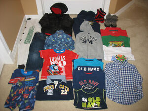 Box Full of Size 3 Boy Clothes For $20 - Includes Winter Jacket!