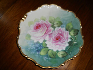 French Limoges Hand Painted Plate