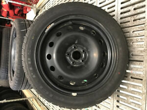 215-50-17 WINTERS TIRES ON STEEL RIMS (5x105)