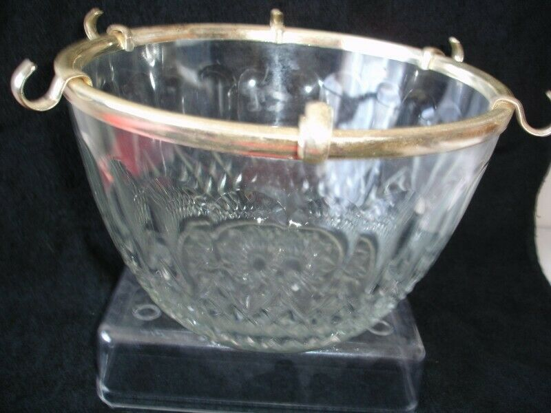 Vintage Clear Glass Punch Bowl